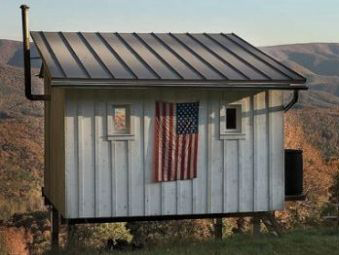 Lloyd s blog tiny house in remote west virginia hills for Shack at hinkle farm