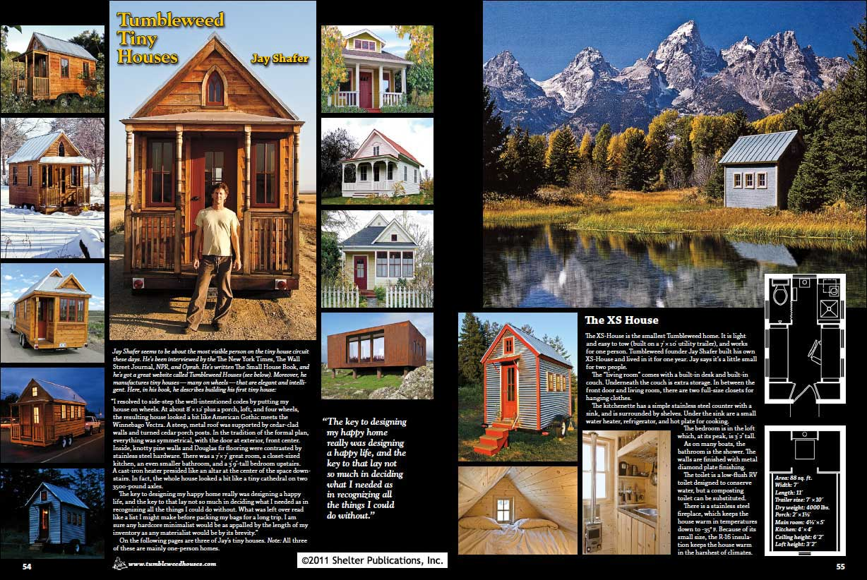 Tiny Homes: Simple Shelter - Table of Contents