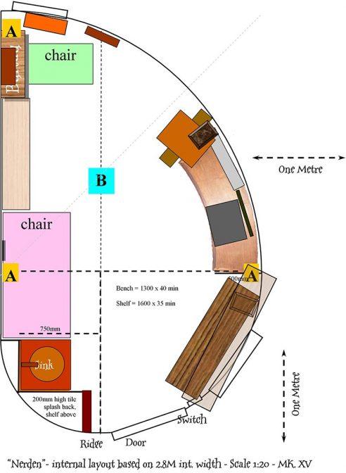 The plan for a Fibonacci inspired garden building