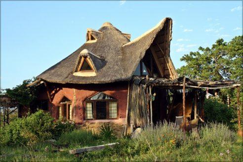 A cob house