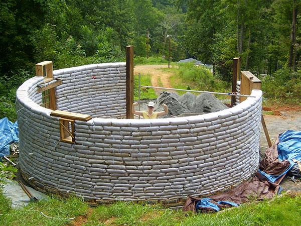 large earthbag house plans. round earthbag home  Morgan s 5 000 Earthbag House The Shelter Blog