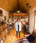 Lily in her tiny house