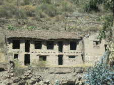old adobe and brick building