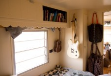 Bookshelf and instrument storage