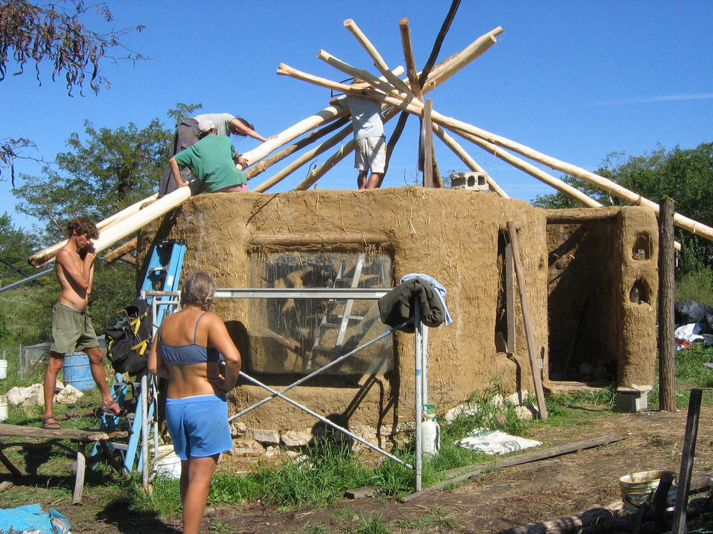How to build a reciprocal roof frame the shelter blog for How to build my house