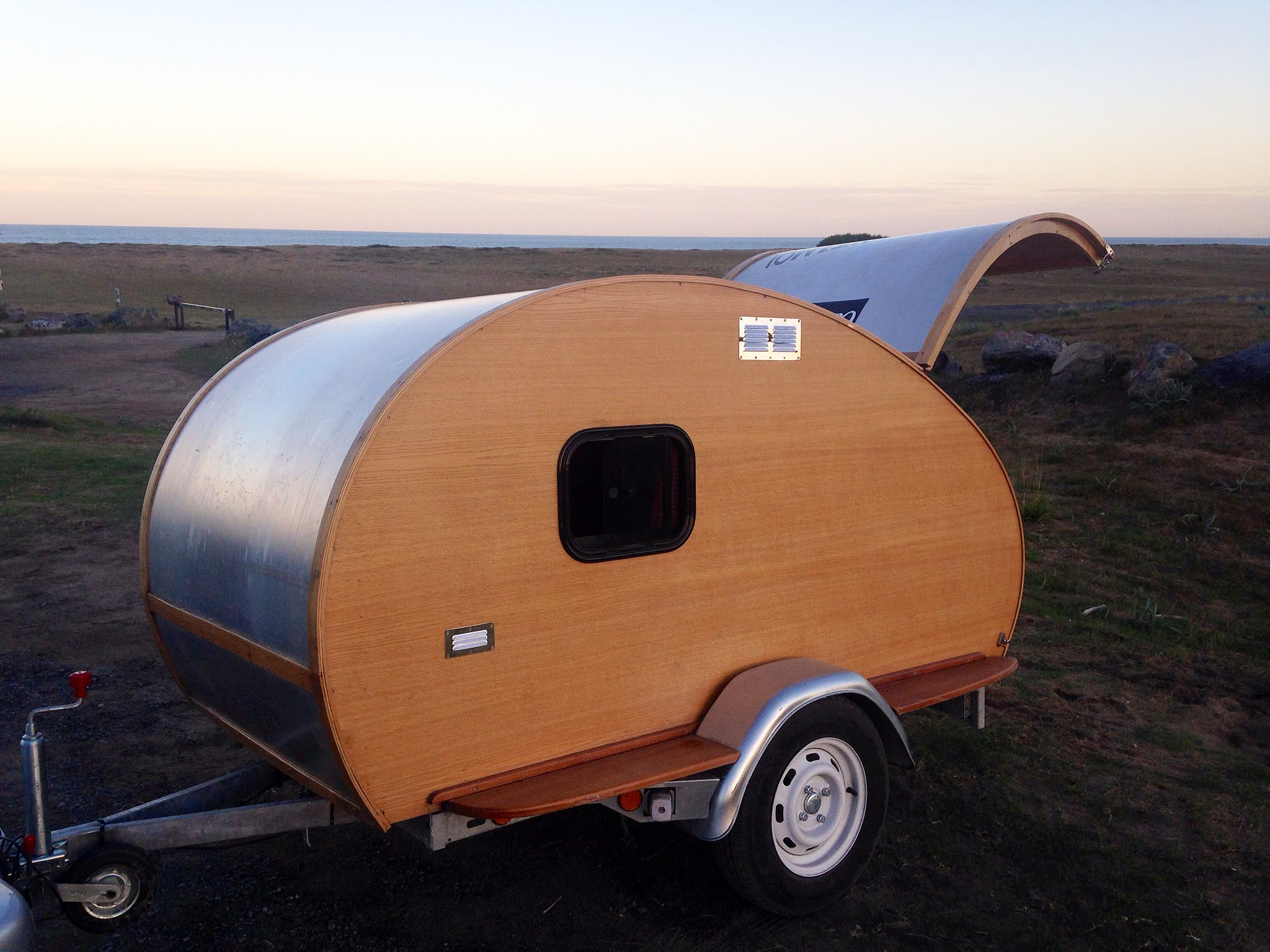 Wooden Teardrop Trailers and Surfboards Built in France The