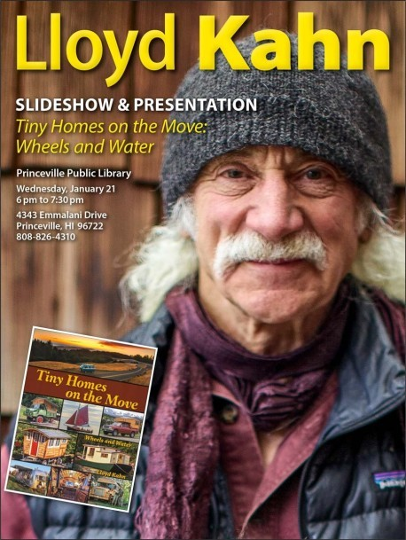 Lloyd Kahn Slideshow / Book Event for TinyHomes on theMove