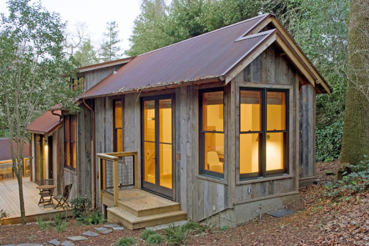 barn wood guest cottage