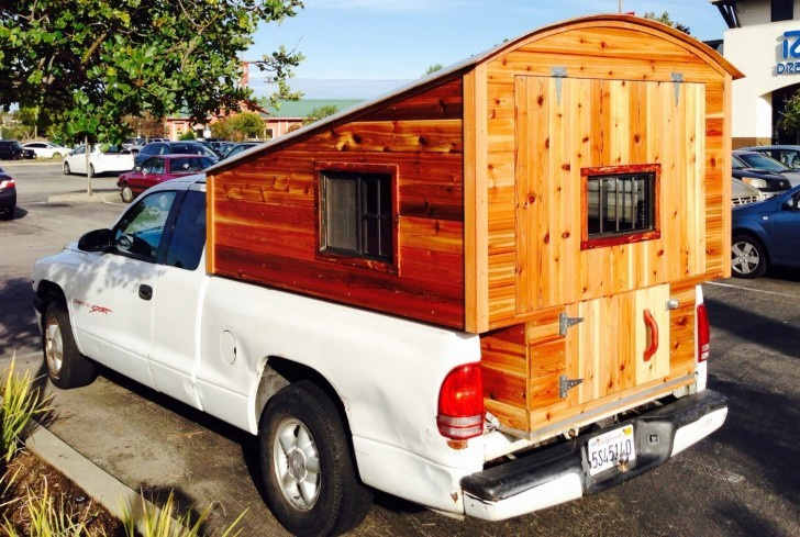 Homemade Wooden Pickup Truck Camper Shell