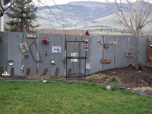 Using recycled building materials to create a fence