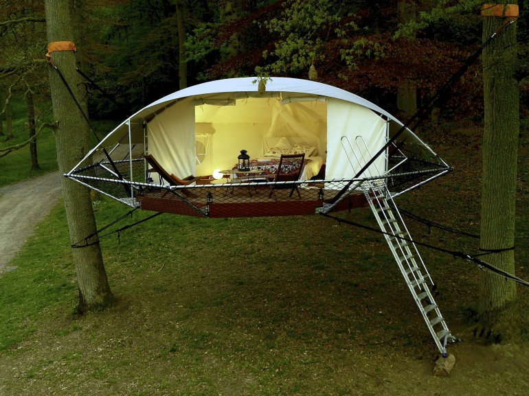 Dutch arboriculturist Bruno de Grunne and architect Nicolas du0027Ursel from Trees and People have invented a new suspension style cabin called Domu0027Up. This ... & Ecological (and Expensive) Tent Treehouse - The Shelter Blog