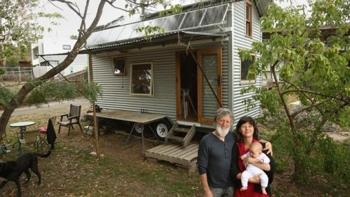 Student builds tiny home from material salvaged after an for Tiny house blog family
