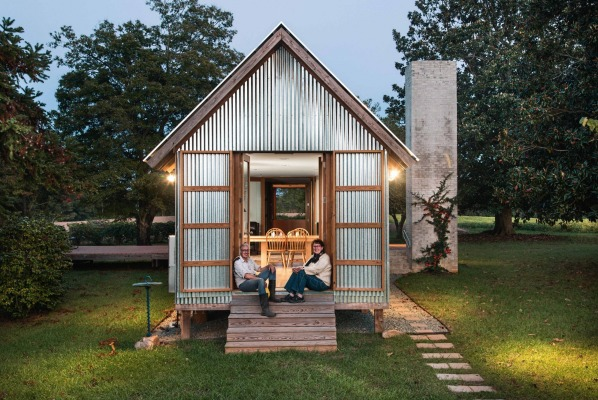Beautifully built corrugated steel retreat in north for Building a house in nc