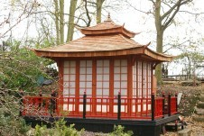 The Japanese Tea House from Cold Norton in Chelmsford has been entered into this year's annual 'Shed of The Year' competition sponsored by Cuprinol
