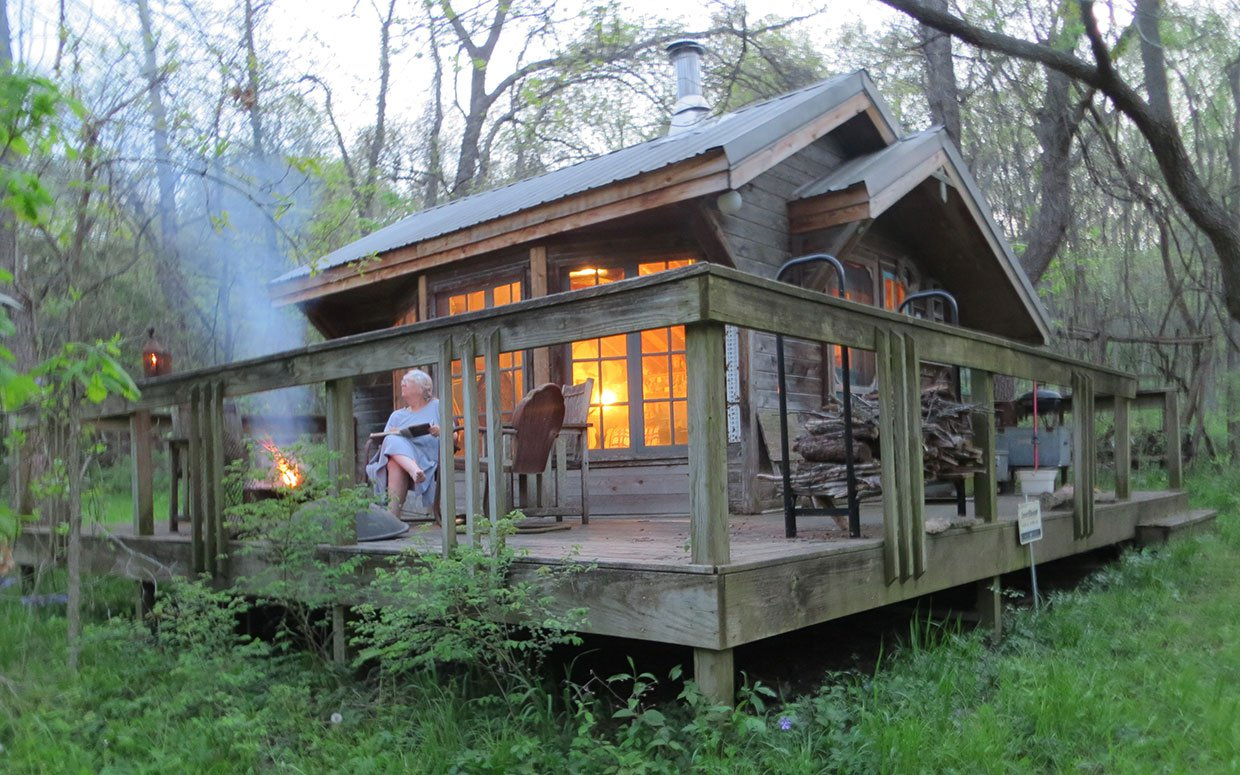 Artist 39 s tiny home in the woods the shelter blog Tiny cabin