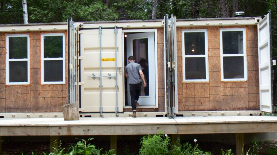 Ottawa man converts shipping containers into secluded for Kitchen bins cape town