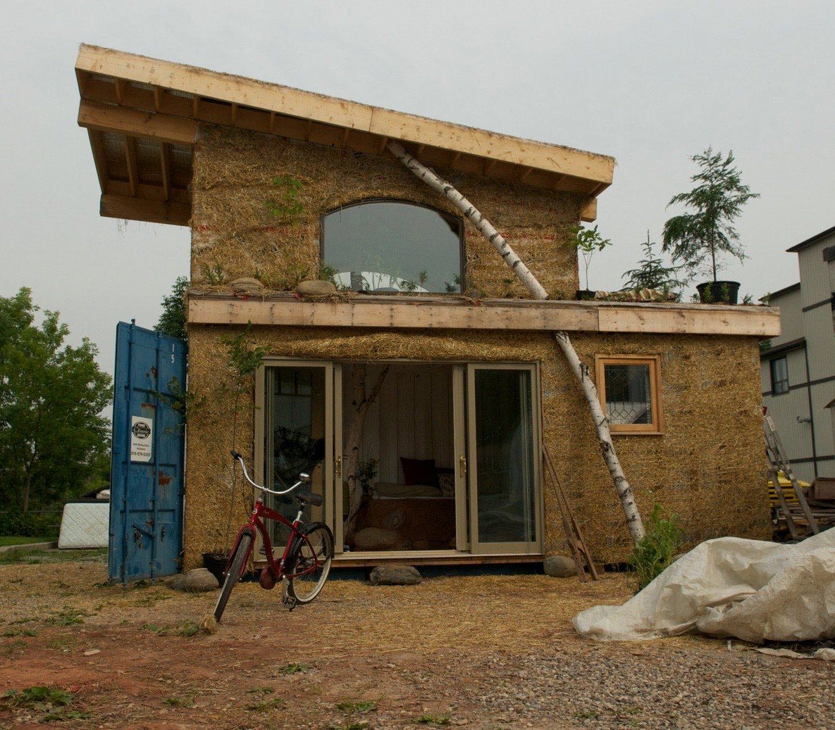 Solar Tiny Container House Built With Cob The Shelter Blog
