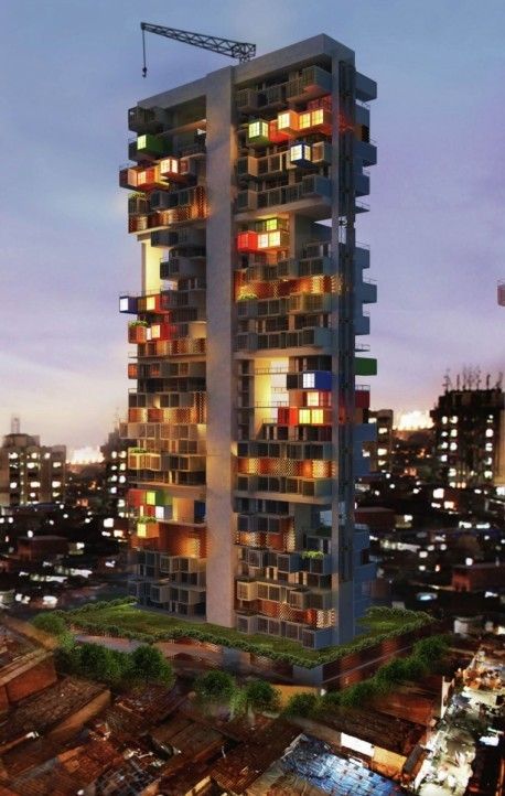Container Apartment Building in Mumbai