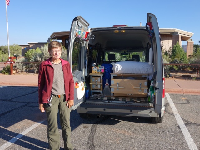 my wife helen has always thought the little ford transit vans are so cute that shes always wanted one then yesterday at natural bridges - Ford Transit Connect Interior Camper