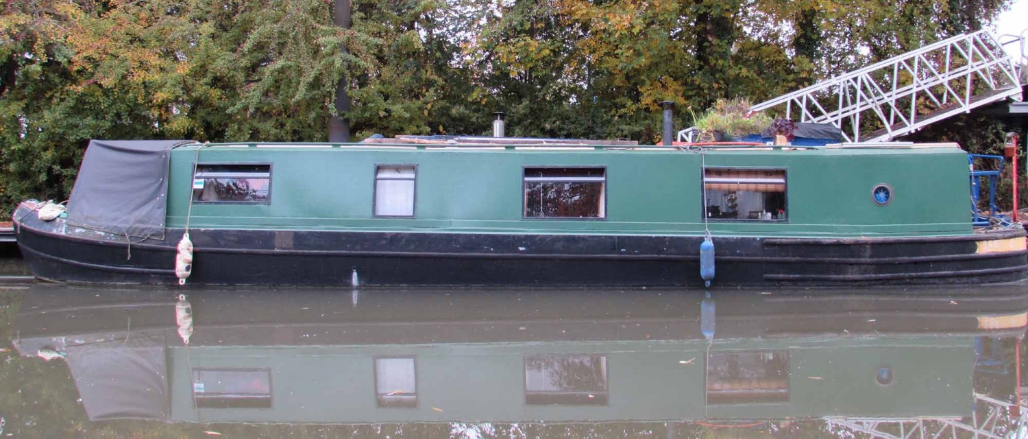 Houseboat in Southwest England