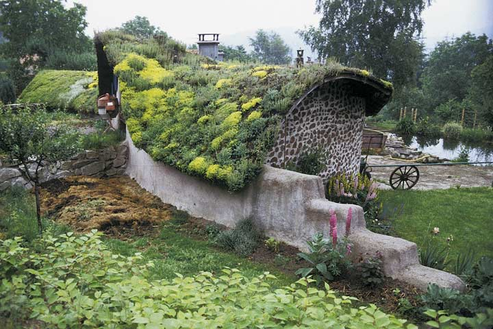 Natural buildings photographs by catherine wanek the - Build green roof nature home ...