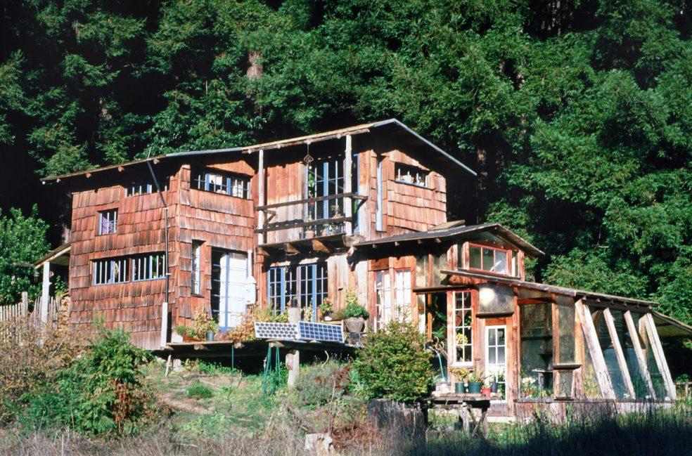 Kate Todd's handmade home near Point Arena, Mendocino County, California.
