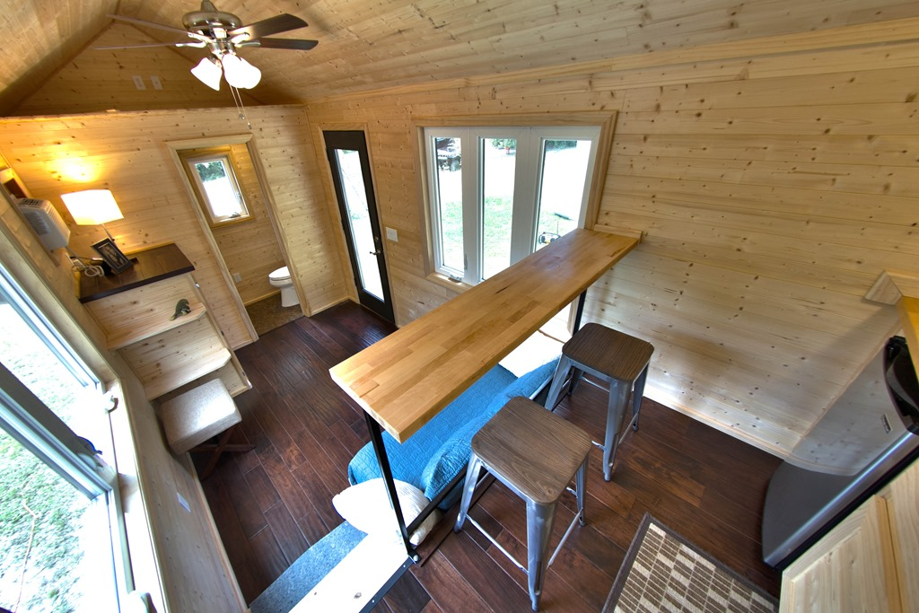 Clever Loft Less Tiny House Design