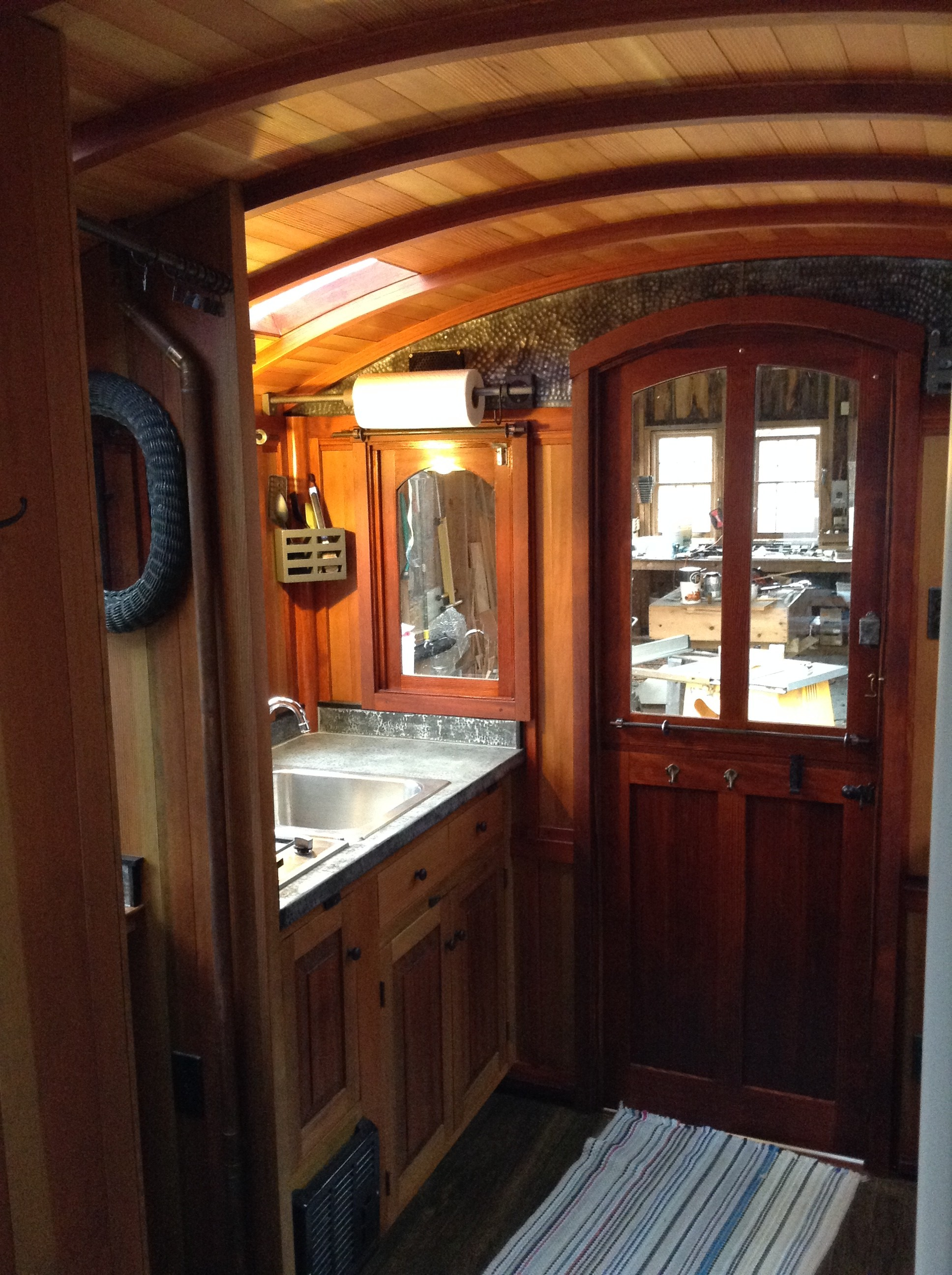 interior photos of greg ryan 39 s gypsy wagon the shelter blog