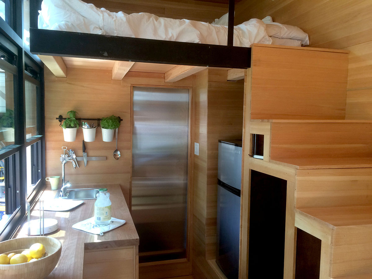 Tiny House with FoldDown Bar The Shelter Blog