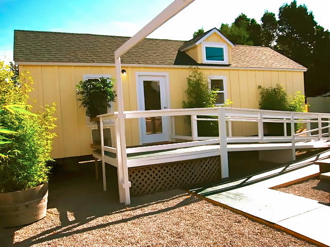 Home care cottages for your backyard the shelter blog Wheelchair accessible housing