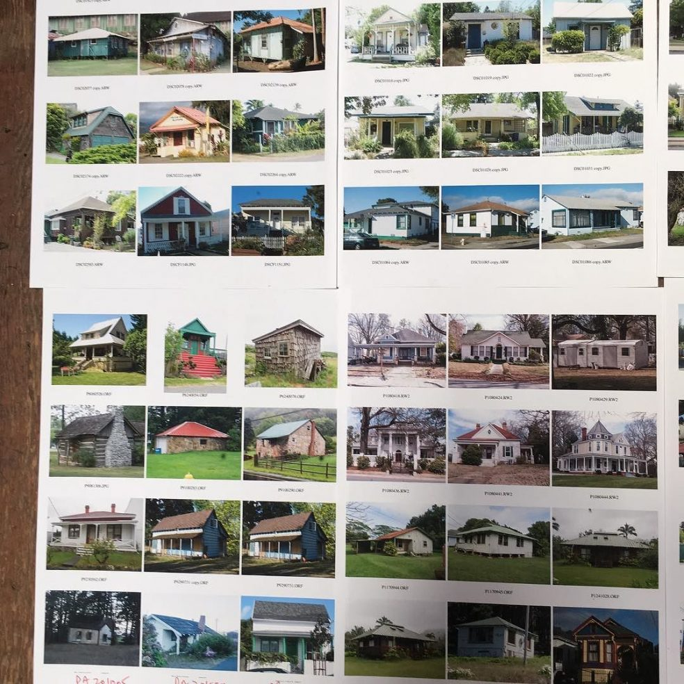 Mockup of two pages with photocopies. [Photos by Lloyd Kahn[/pc]