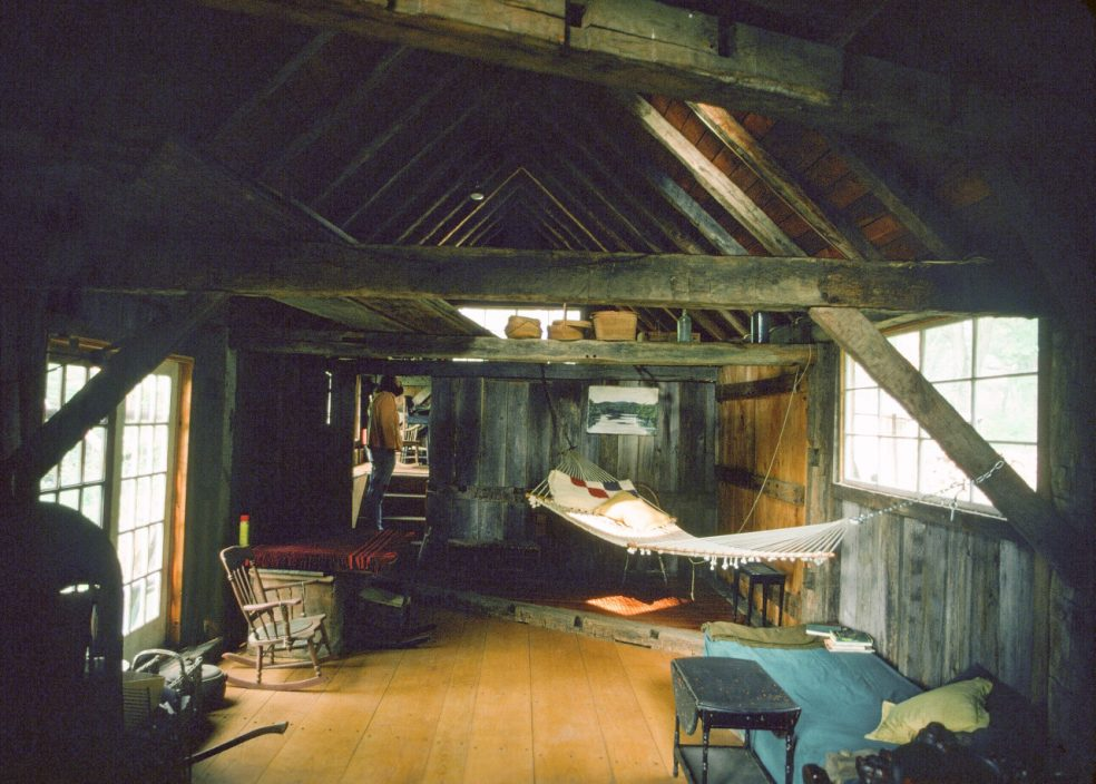 """Interiors of John Well's home in near West Cornwall, Connecticut in the 1970′s <span class=""""credit""""></span>Photo by Lloyd Kahn[/pc"""
