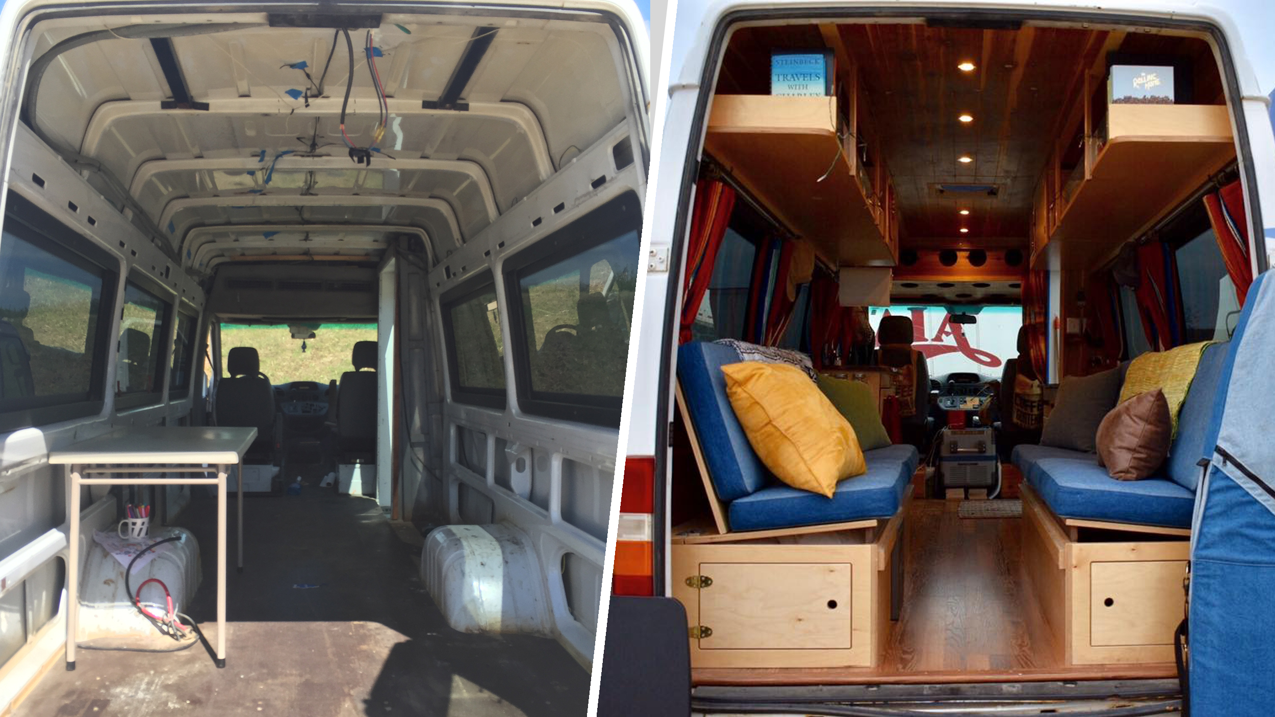 Couple Converts Airport Shuttle Bus Into Home On Wheels