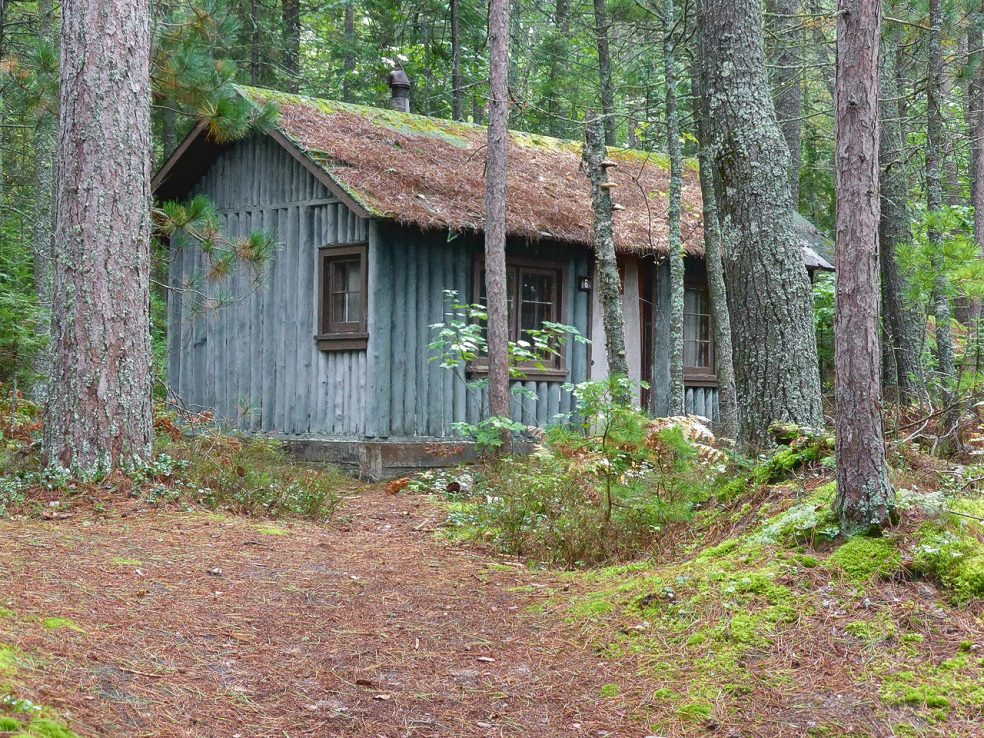 Tiny homes archives the shelter blog - The wood cabin on the rocks ...