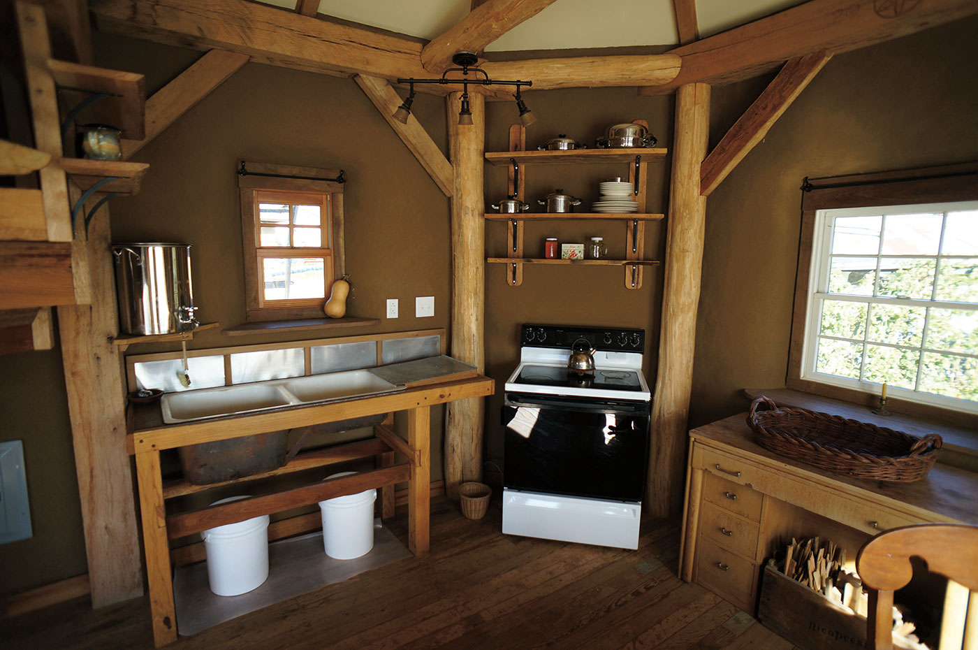 Ziggy and April's Timber Frame and Straw Bale Home in